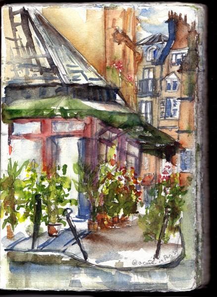 Notre Dame Cafe Sketch 1