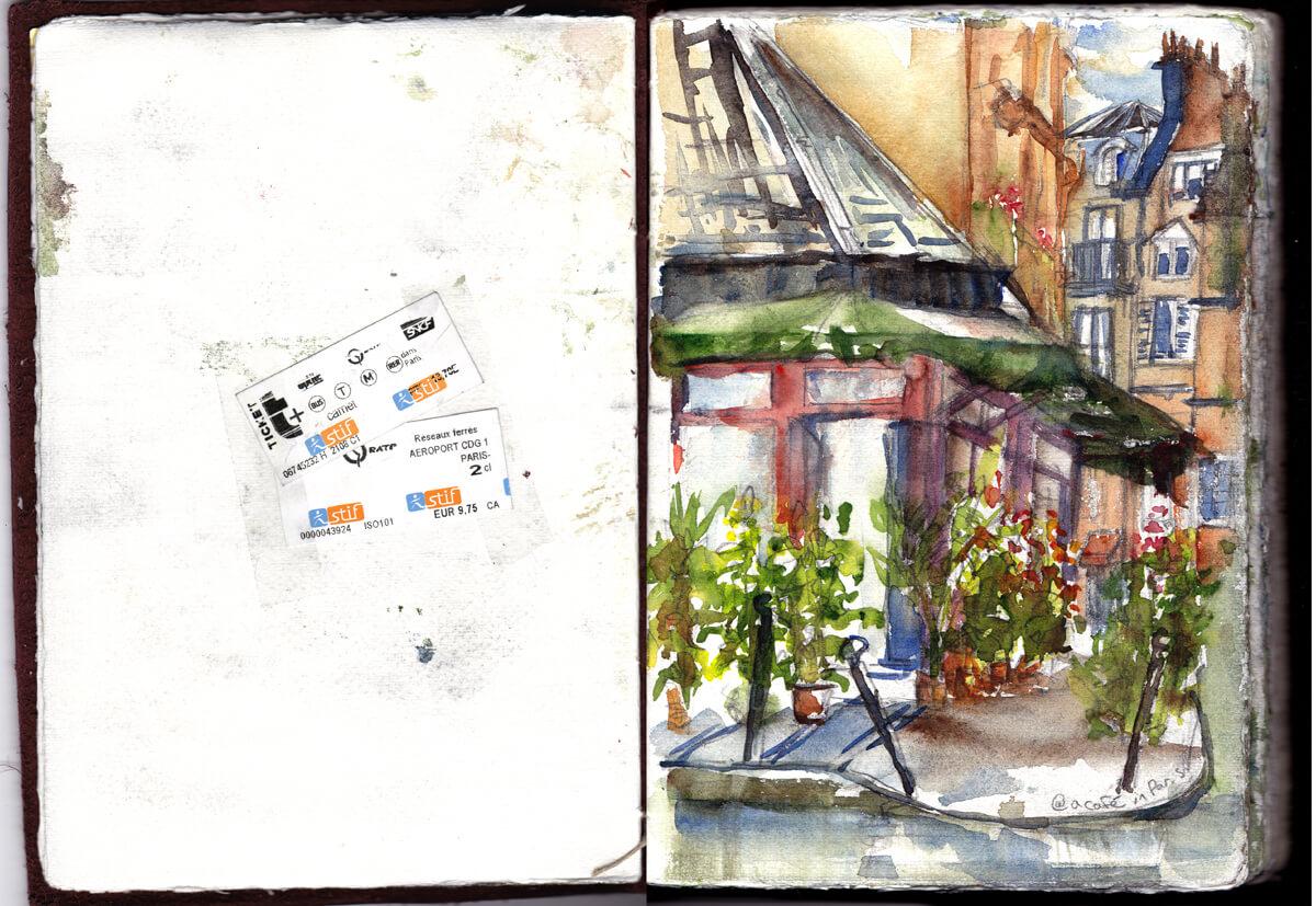 Notre Dame Cafe Sketch