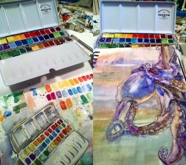 Munich Octopus Sketch