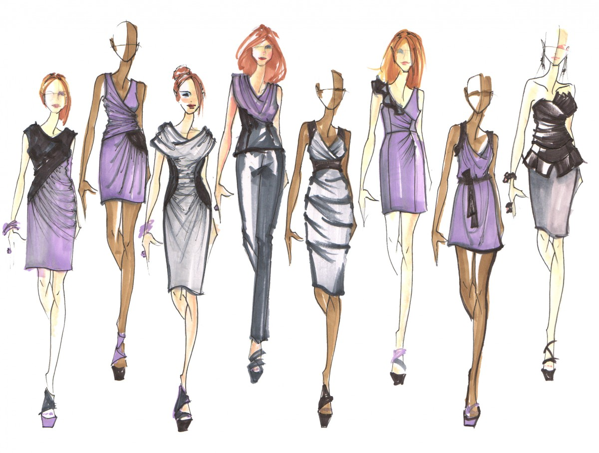 Fashion Designers Drawings Christmaa