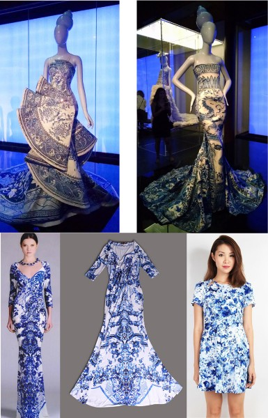 Blue Porcelain Dress MET China