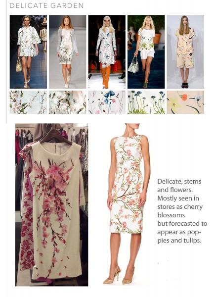 SS15 Print Trends Delicate Garden