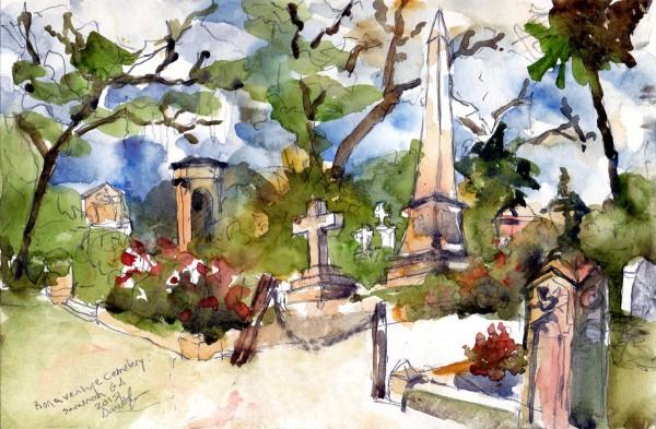 Bonaventure Cemetery Painting Savannah, GA