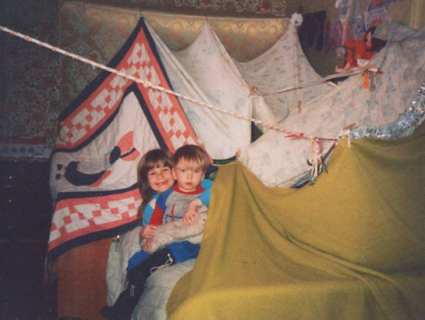 My Childhood bed tent