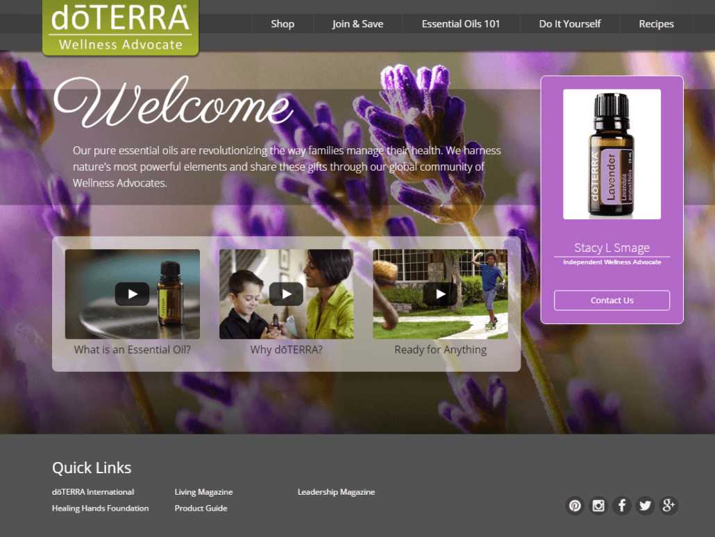 Stacy Smage Doterra Essential Oils