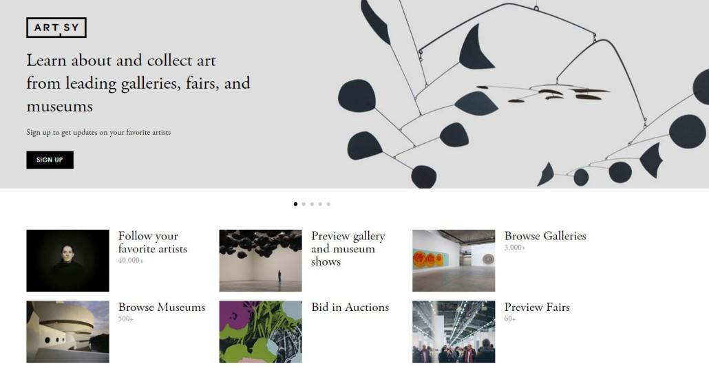 Artsy App Fueled Garrott Designs