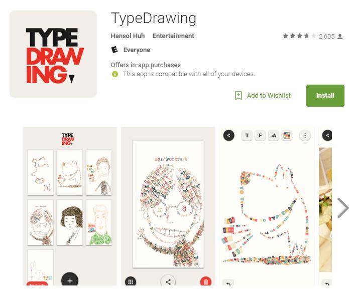 Type Drawing Apple App