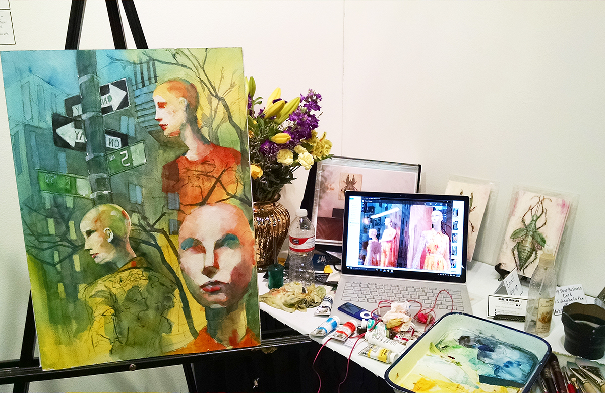 Painting Demonstration at ArtExpoNYC 6