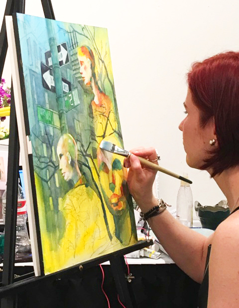 Painting Demonstration at ArtExpoNYC