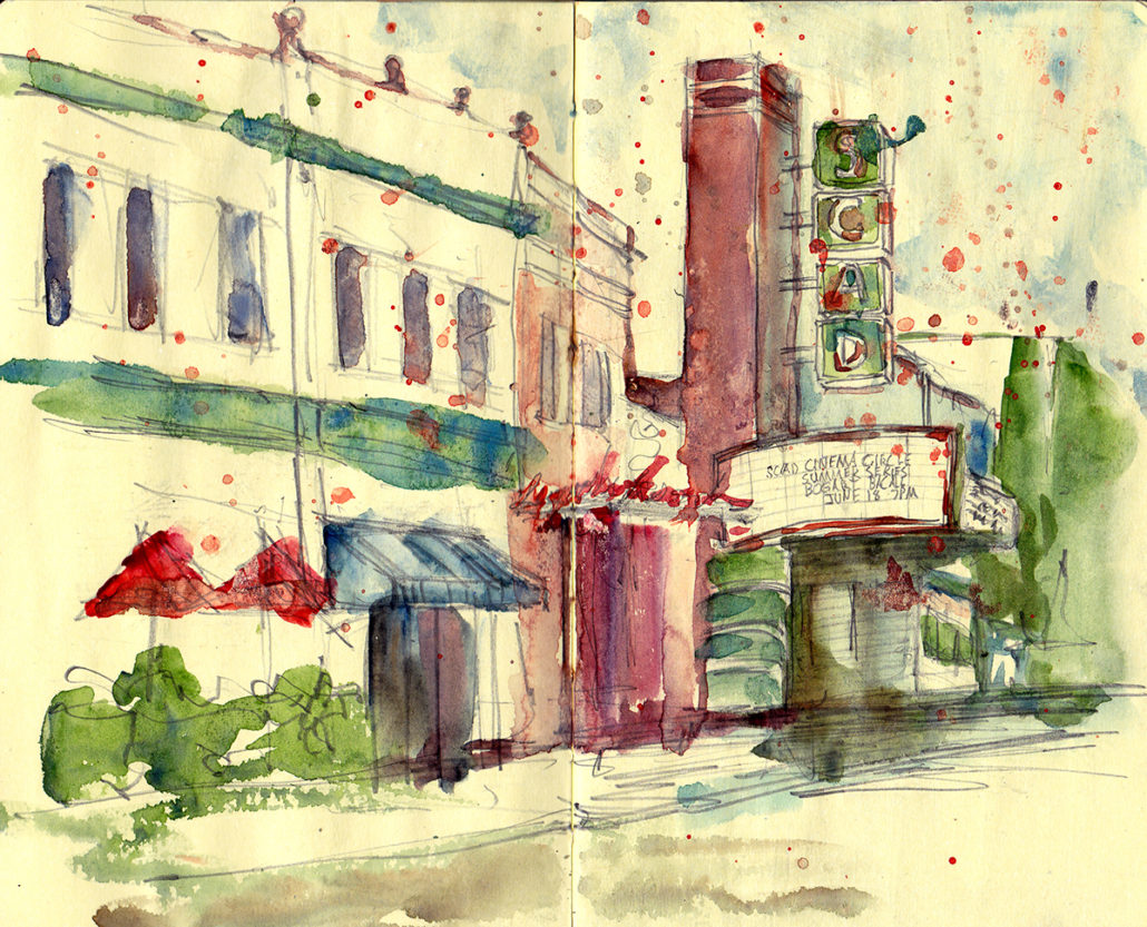 Savannah Urban Sketchers SCAD Theater