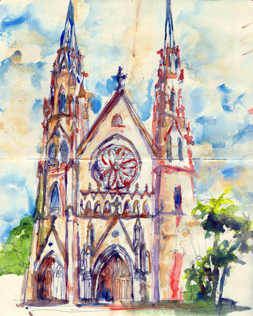 Savannah Urban Sketchers St John The Baptist Cathedral