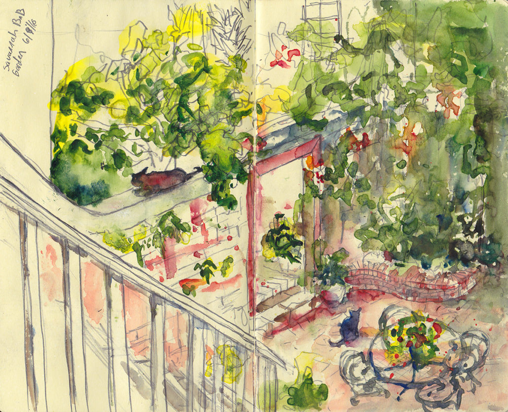 Savannah Urban Sketchers The Savannah Bed n Breakfast