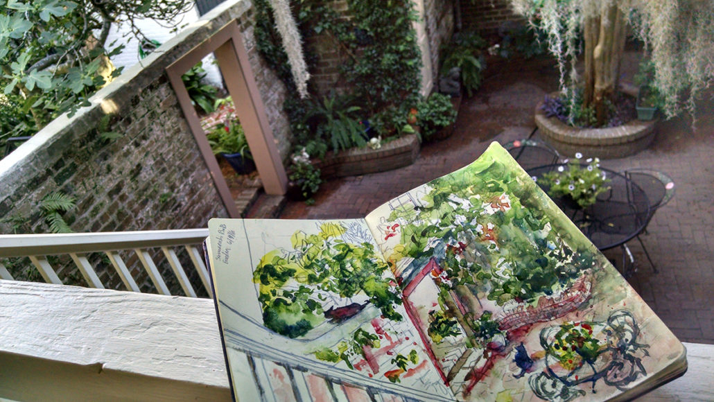 Savannah Urban Sketchers The Savannah Bed n Breakfast 4