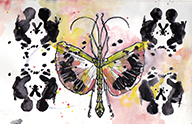Yellow Fly Rorschach Moleskine Postal notebook