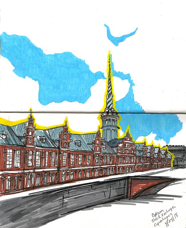 Borson Sketching Architecture Design Copenhagen Denmark Art Culture Urban Planning Sustainability Sketchbook