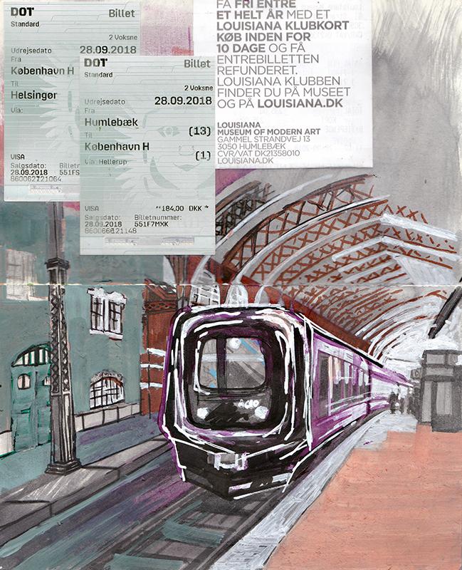 central station Sketching Architecture Design Copenhagen Denmark Art Culture Urban Planning Sustainability Sketchbook