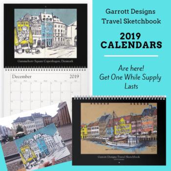travel sketchbook 2019 calendars sketches, travel urban sketchers art calendars shop