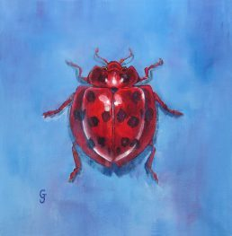 Lady Beetle insect art painting collection home decor